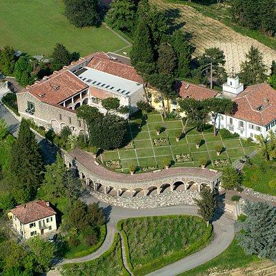 Villa Ottolenghi Wedekind vista dall'alto