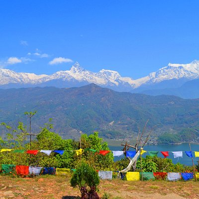Annapurna Himalayan range,from world peace stupa