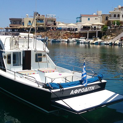 """Boat """"Aphrodite"""" is waiting for you in the picturesque harbour of Sissi."""
