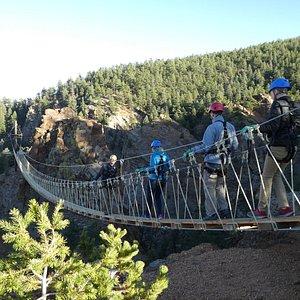 A heart-pounding walk across the Fin's course suspension bridges