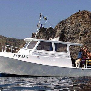 Nos sorties en mer à bord du Sirena vedette rapide et confortable reservation 06 14 96 38 66