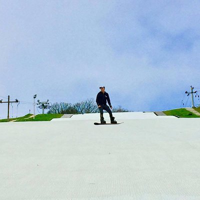 One of our customers riding the main slope