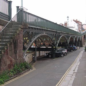 The Iron Bridge Exeter looking away from the city centre.