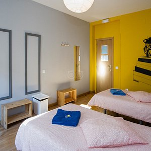 The Two Beds at the SunGate Hostel