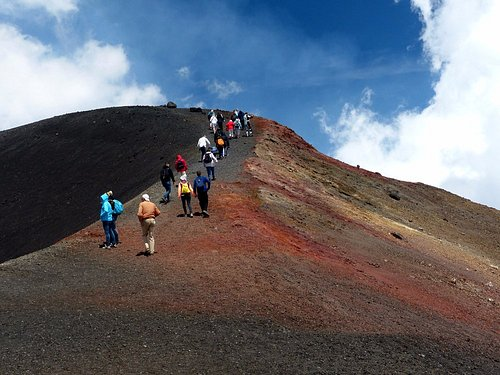 Walking on the extinct craters