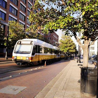 DART train downtown