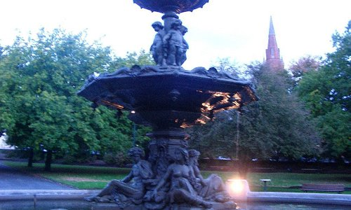 The fountain in the Prince's Square