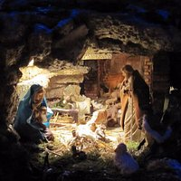 il presepe all'interno del mausoleo