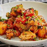 Pollo agridulce con verduritas - Menú Let´s Jam