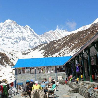 Machhapuchhre Base camp 3700 Meters . Amazing view .