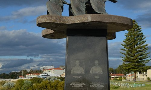 Sculpture of flying swans