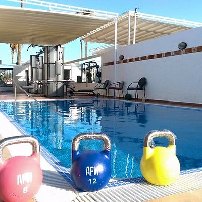 nothing is better, than a good open air workout. Enjoy our openair gym with swimming.