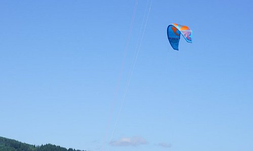 We use real4 line  kites for training, not 2 line trainers, You learn much faster this way