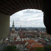 Widok z wieży Zamku Przemysła w Poznaniu