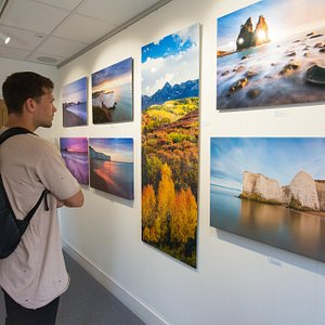 Large format photography dispaly at the Kent Coast Gallery