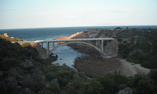 Bridge over the Steenbras River mouth