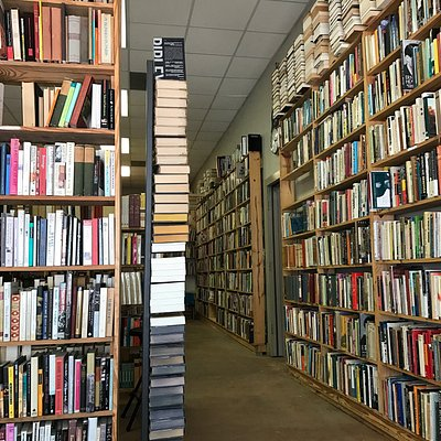 Tall stacks of books