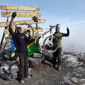 mountain bike on the Kilimanjaro mountain, Mountain Cycling, biking on the Kilimanjaro Mountain