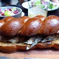 Chicken Sandwich — brioche, black truffle & foie gras