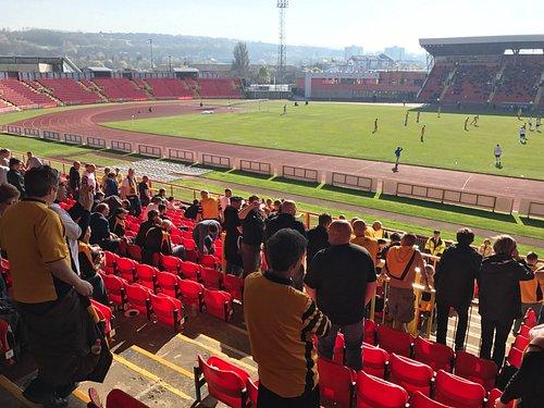 Maidstone Utd fans at Gateshead