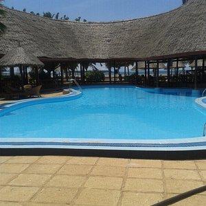Nice pool with ocean views
