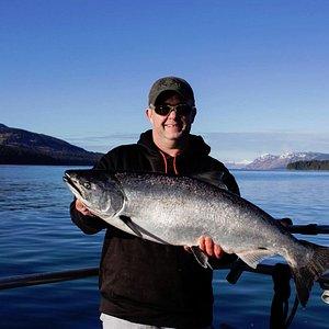 Captain Mel witha winter king salmon