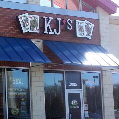 front of & entrance to KJ's Bistro