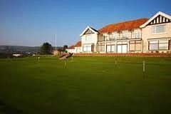 Practice putting green and club house
