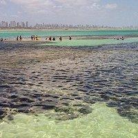piscinas natursales de aguas cristalinas con recifes de corales