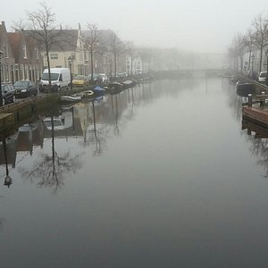 canal alongside which the sculpture stands