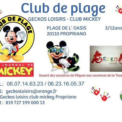 Présentation club de plage geckos loisirs club Mickey propriano