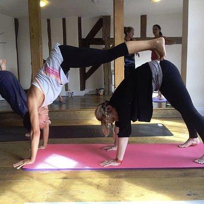 acro yoga pose!