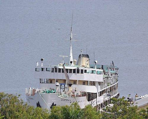 MV Victoria (off duty) in Mwanza Harbour.