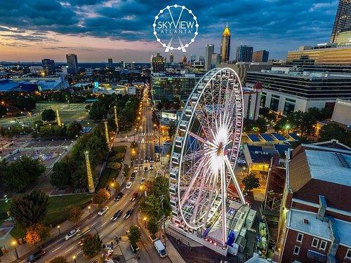 SkyView Atlanta at twilight