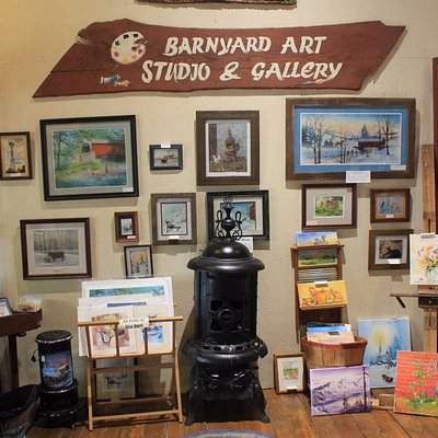 An array of original artwork as well as prints by local artists available.