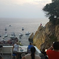 Front row seats for the cliff diving!
