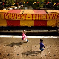 The Puppet Theatre Barge in its Little Venice location