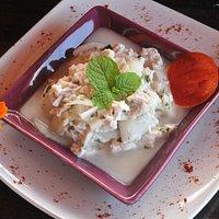 The Voyage retaurant and bar Dominica, polynesian salad