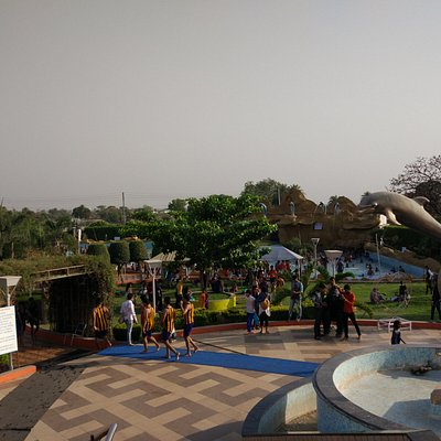 Inside View of Water Park