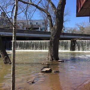 Aquetong Creek Dam Waterfall
