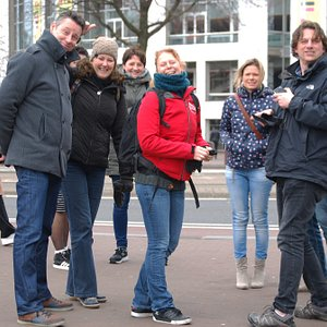Tour group and guide