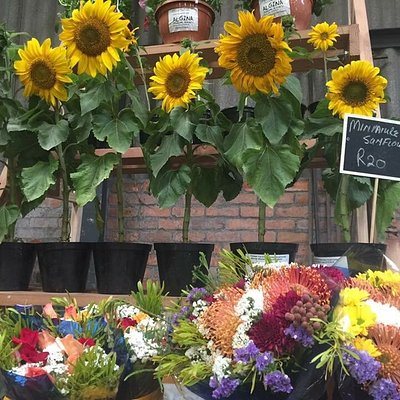 Best market in the Winelands, situated in a 1950 year old Shed, awesome food, organics, flowers,