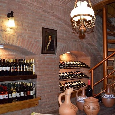 Fragment of the wine shop.