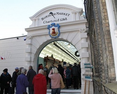 The wonderful old entrance to the market