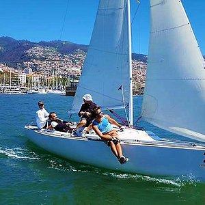 Blue Adventure in regatta
