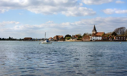Bosham Quay from acroos the other side