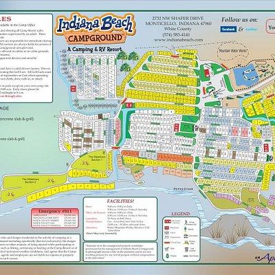 Indiana Beach Campground & RV Resort Map