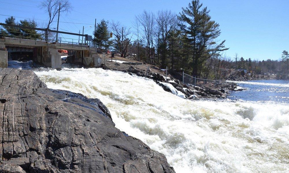 Impressive spring runoff at Bala Falls