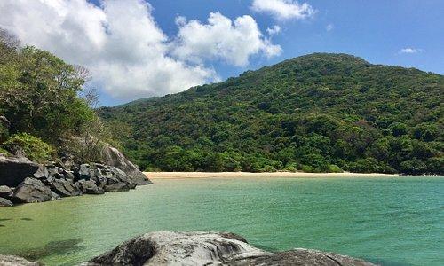 Various scenes of beautiful Dam Trau Beach.