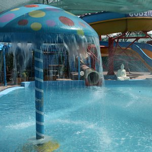 This area is for kids, kids can sit there easily play with water.